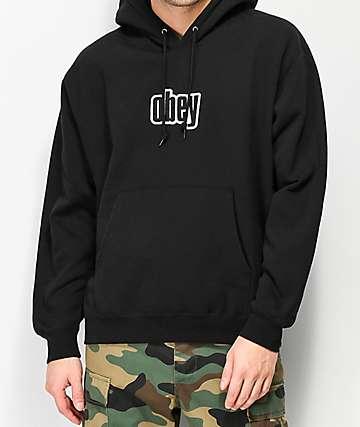 Obey Motion Black Hoodie