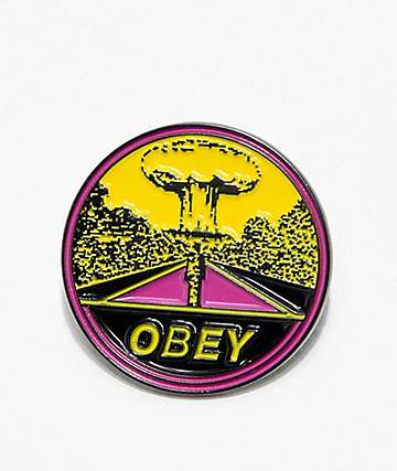 Obey Mushroom Cloud Enamel Pin