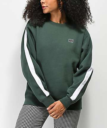 Obey Nova Alpine Green Taped Crew Neck Sweatshirt