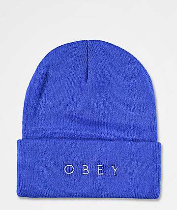 Obey Novel 2 Blue Beanie