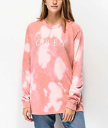 Obey Novel 2 Box Rose Bleach Long Sleeve T-Shirt