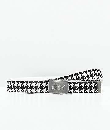 Obey Rising Houndstooth Web Belt