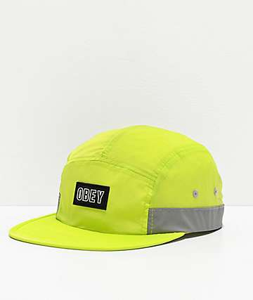 Obey Roadblock Neon Yellow Strapback Hat