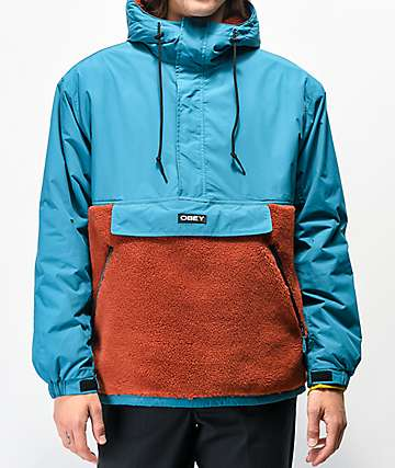 Obey Splits Teal Anorak Jacket