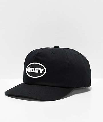 Obey Struggler Black Strapback Hat