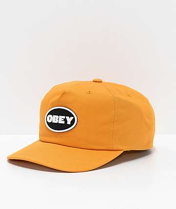 Obey Struggler Mineral Yellow Strapback Hat