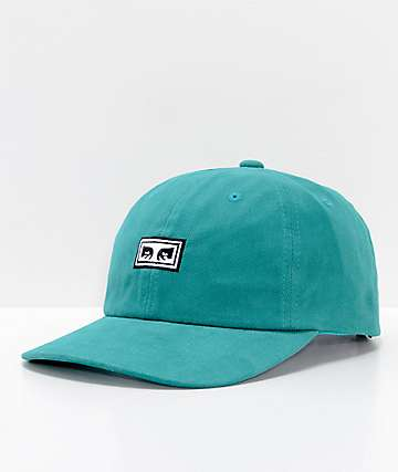 Obey Subversion Teal 6 Panel Snapback Hat