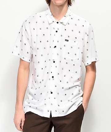 Obey Symbolism camisa de manga corta tejida blanca