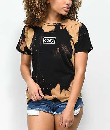Obey Typewriter Black Bleach T-Shirt