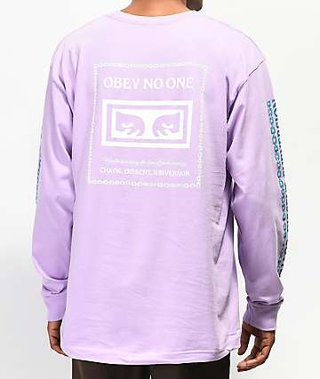 Obey Understanding Lavender Long Sleeve T-Shirt