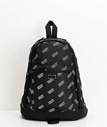 Obey Wayward Day Pack Black & White Mini Backpack
