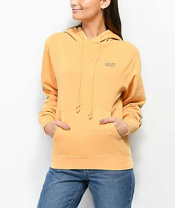 Obey Worldwide Outline Dusty Autumn Yellow Hoodie