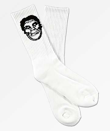 Obey x Misfits Fiend Club White Crew Socks