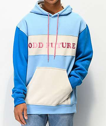 Odd Future Block Text Blue & White Hoodie