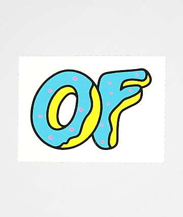 Odd Future Blue Donut Sticker