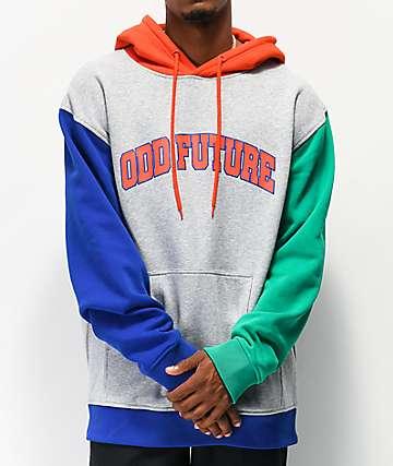 Odd Future Collegiate Block sudadera con capucha gris