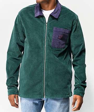 Odd Future Colorblock Green & Purple Corduroy Jacket