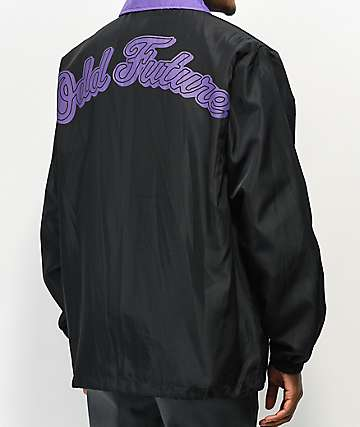 Odd Future Contrast Black & Purple Coaches Jacket