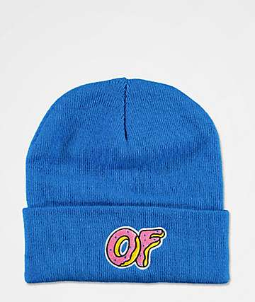 Odd Future Donut Cuff Royal Blue Beanie