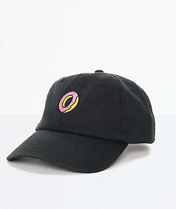 Odd Future Embroidered Donut Black Polo Strapback Hat