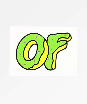 Odd Future Green Donut Sticker