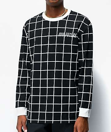 Odd Future Grid Black Long Sleeve Knit T-Shirt