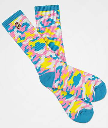 Odd Future Multi-Colored Camo Crew Socks