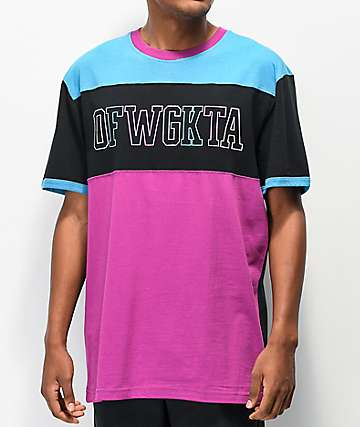 Odd Future Puff Colorblock Black, Blue & Purple T-Shirt