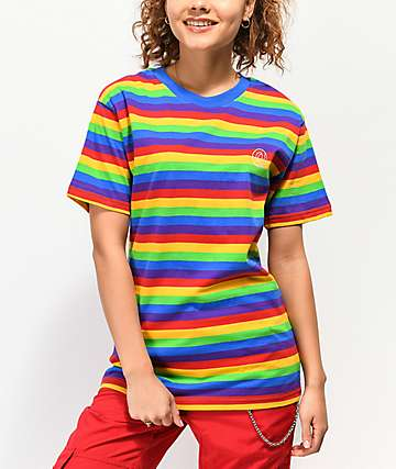 Odd Future Rainbow Striped T-Shirt