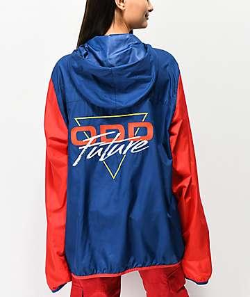 Odd Future Red, White & Blue Anorak Windbreaker Jacket