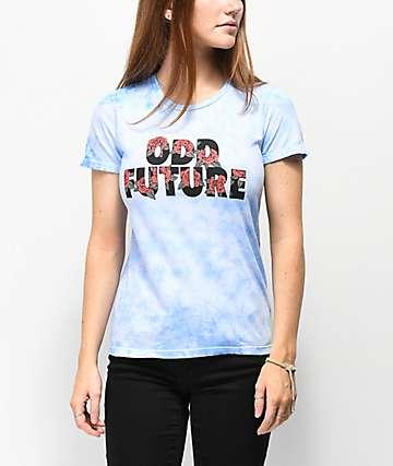 Odd Future Roses Blue Tie Dye T-Shirt