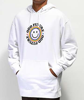 Odd Future Smile Logo White Hoodie