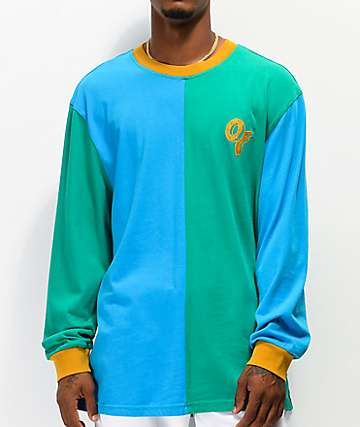 Odd Future Split Blue & Green Long Sleeve T-Shirt