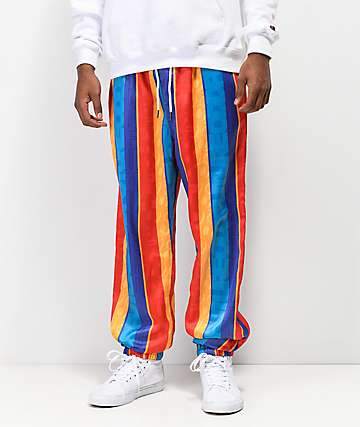 Odd Future Striped Satin Jogger Pants