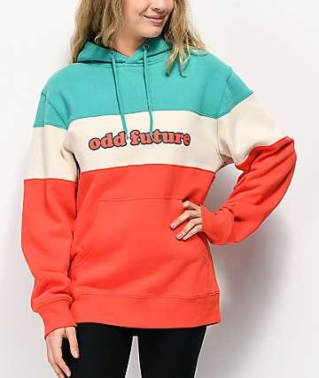 Odd Future Teal, & Orange Colorblock Hoodie