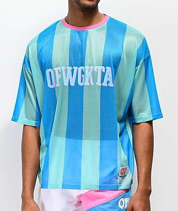 Odd Future Vertical Stripe Teal Soccer Jersey