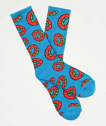 Odd Future Watermelon Blue Crew Socks