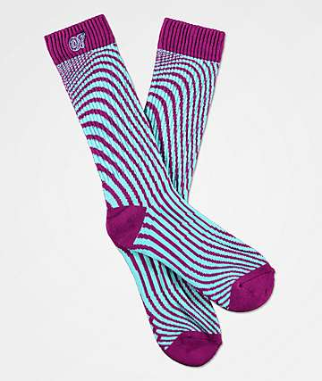 Odd Future Wavy Purple & Blue Crew Socks