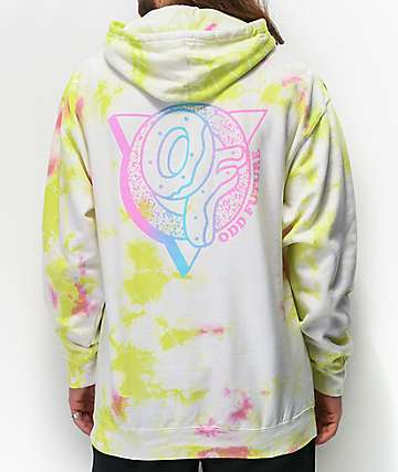 Odd Future White, Green & Pink Crystal Wash Hoodie