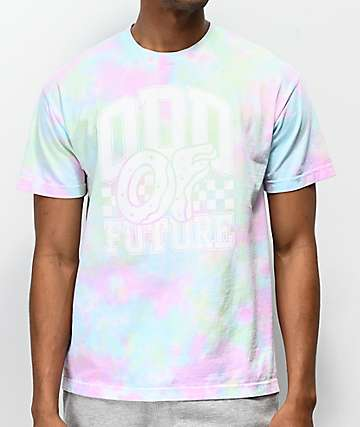 Odd Future Winners Circle Green, Pink, Blue & White Tie Dye T-Shirt