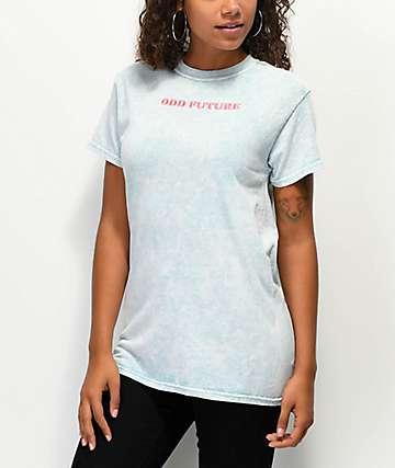 Odd Future camiseta azul menta con bordado