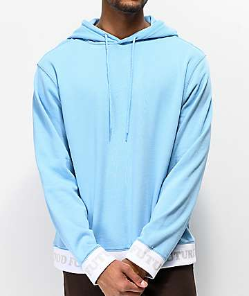 Odd Future sudadera con capucha azul claro acanalada