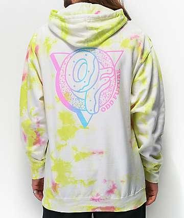 Odd Future sudadera con capucha con lavado blanco, verde y rosa