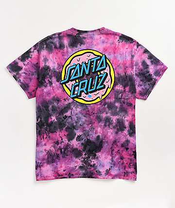 Odd Future x Santa Cruz Donut camiseta tie dye morada