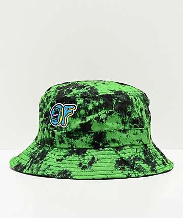 Odd Future x Santa Cruz OF Green Crystal Wash Bucket Hat