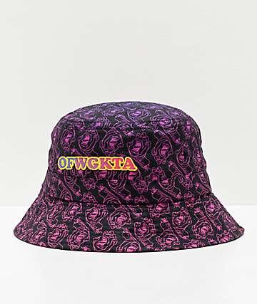 Odd Future x Santa Cruz Screaming Donut sombrero de cubo negro, morado y rosa