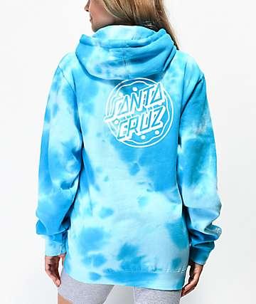 Odd Future x Santa Cruz sudadera con capucha de tie dye azul