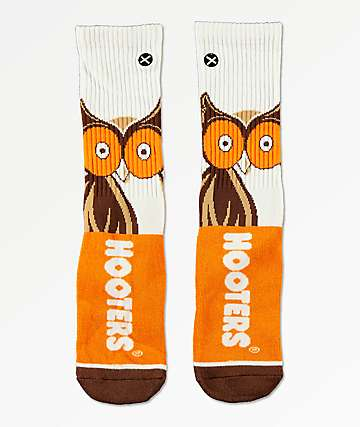 Odd Sox x Hooters Big Owl Crew Socks