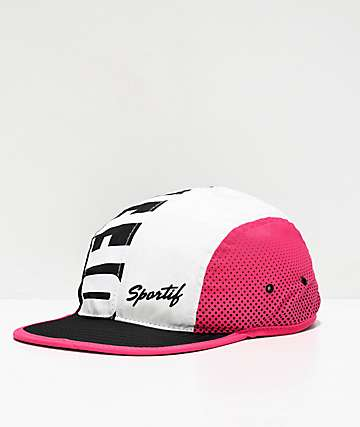Official All Court Black, White & Pink Four Panel Hat