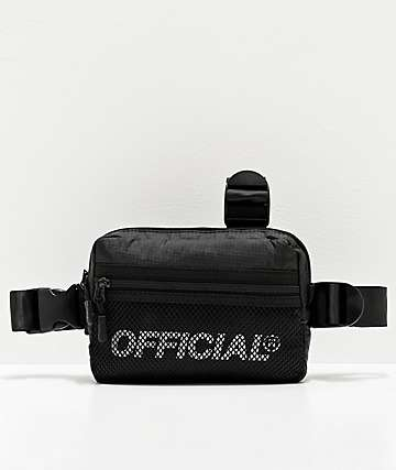 Official Melrose Black Tri-Strap Chest Bag